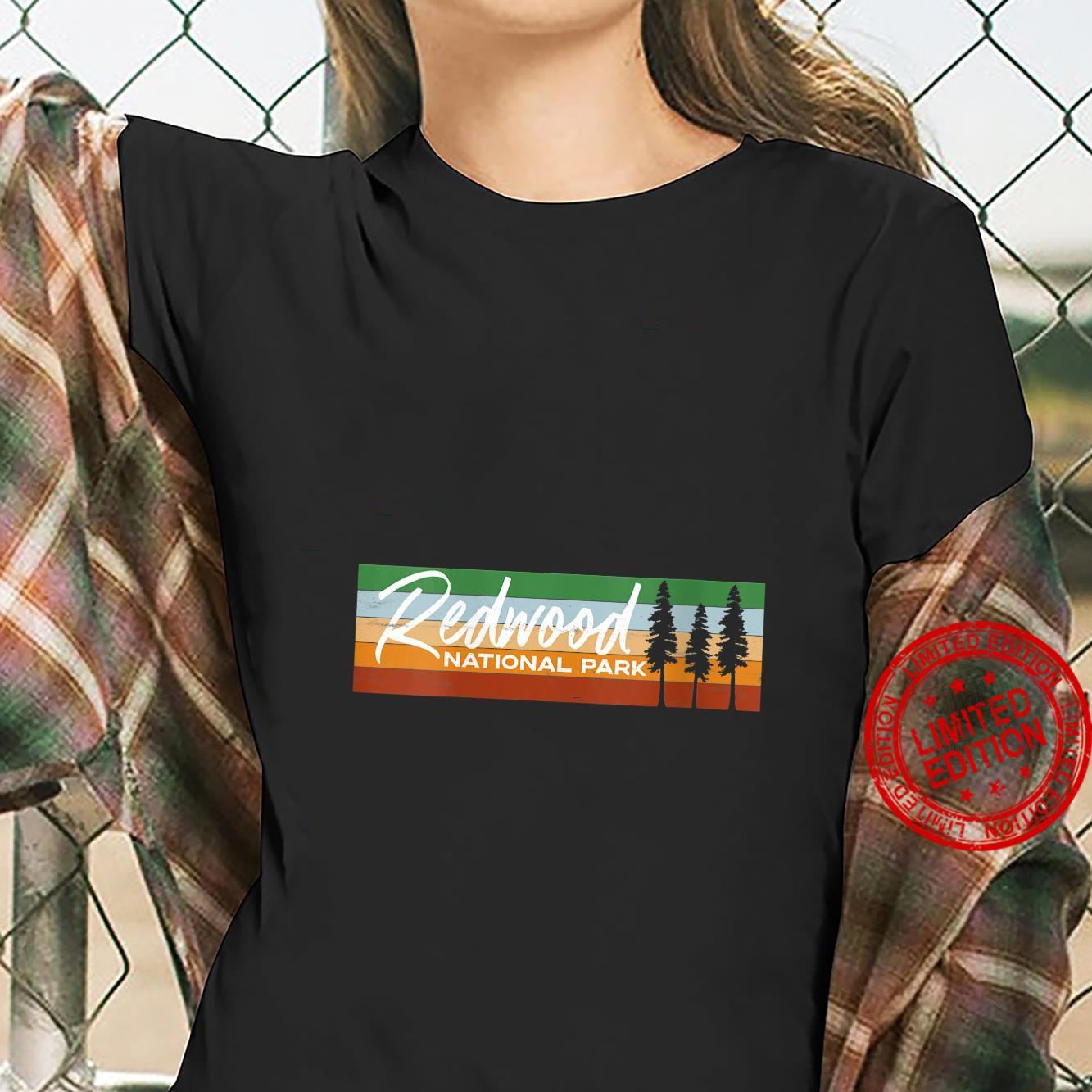 Womens Retro Redwood National Park California CA Shirt ladies tee