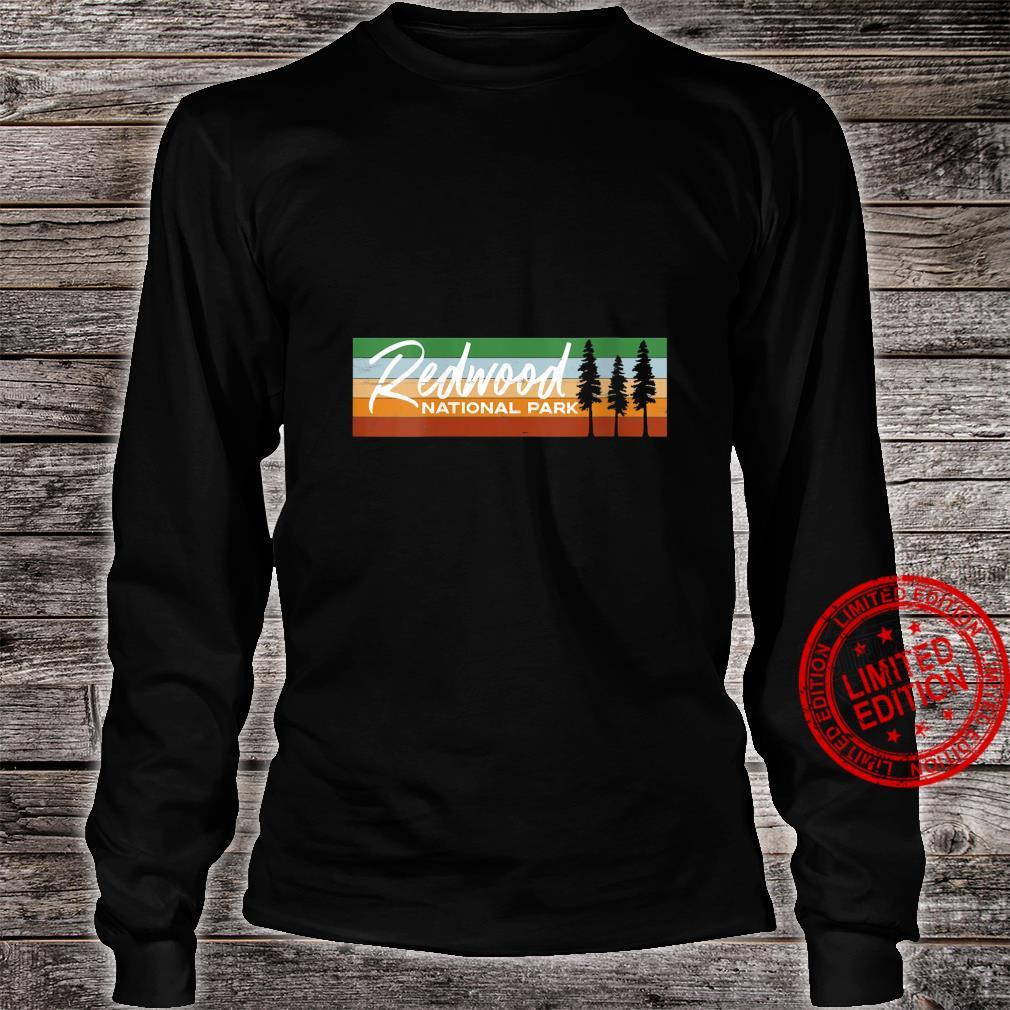 Womens Retro Redwood National Park California CA Shirt long sleeved