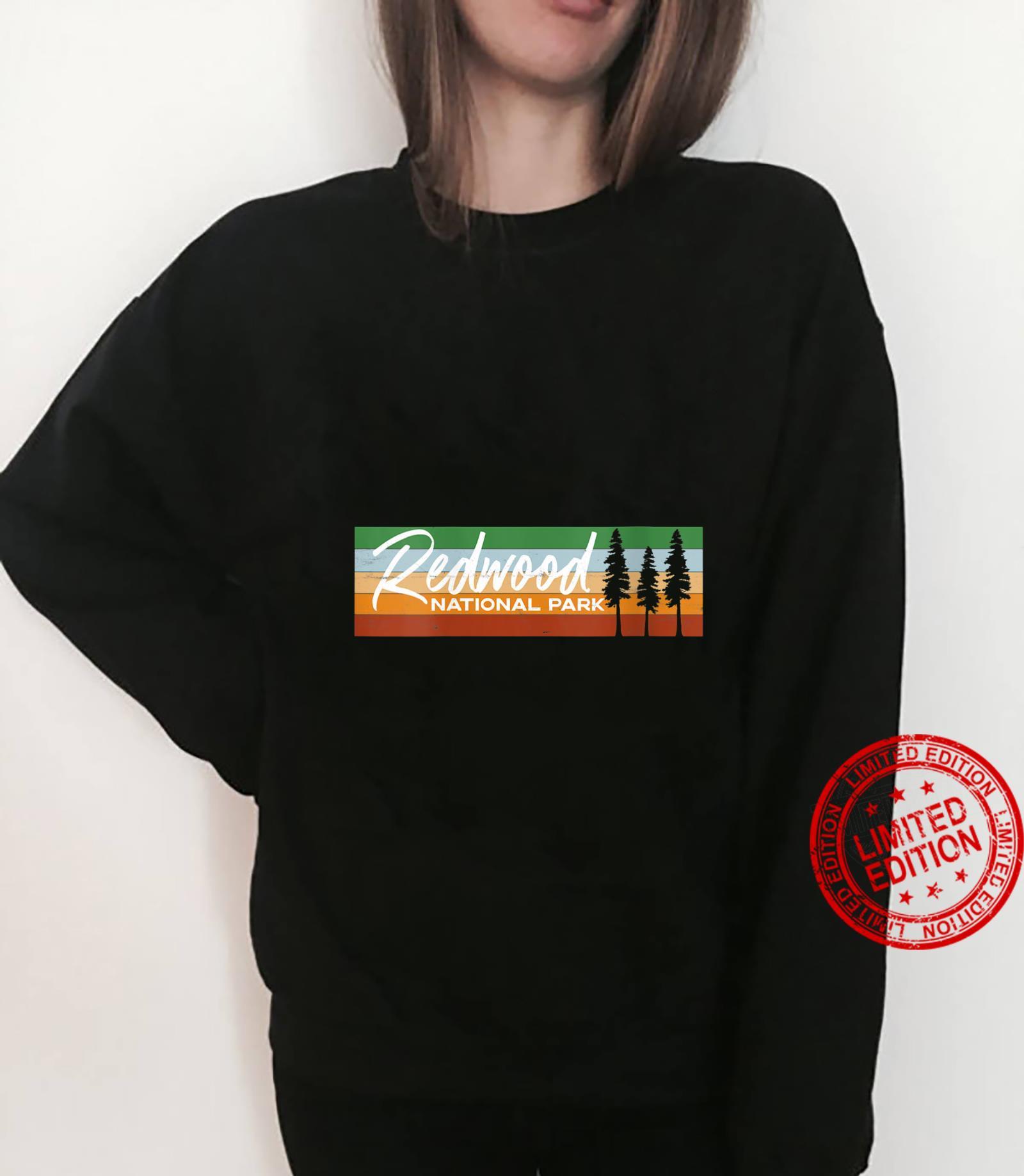 Womens Retro Redwood National Park California CA Shirt sweater