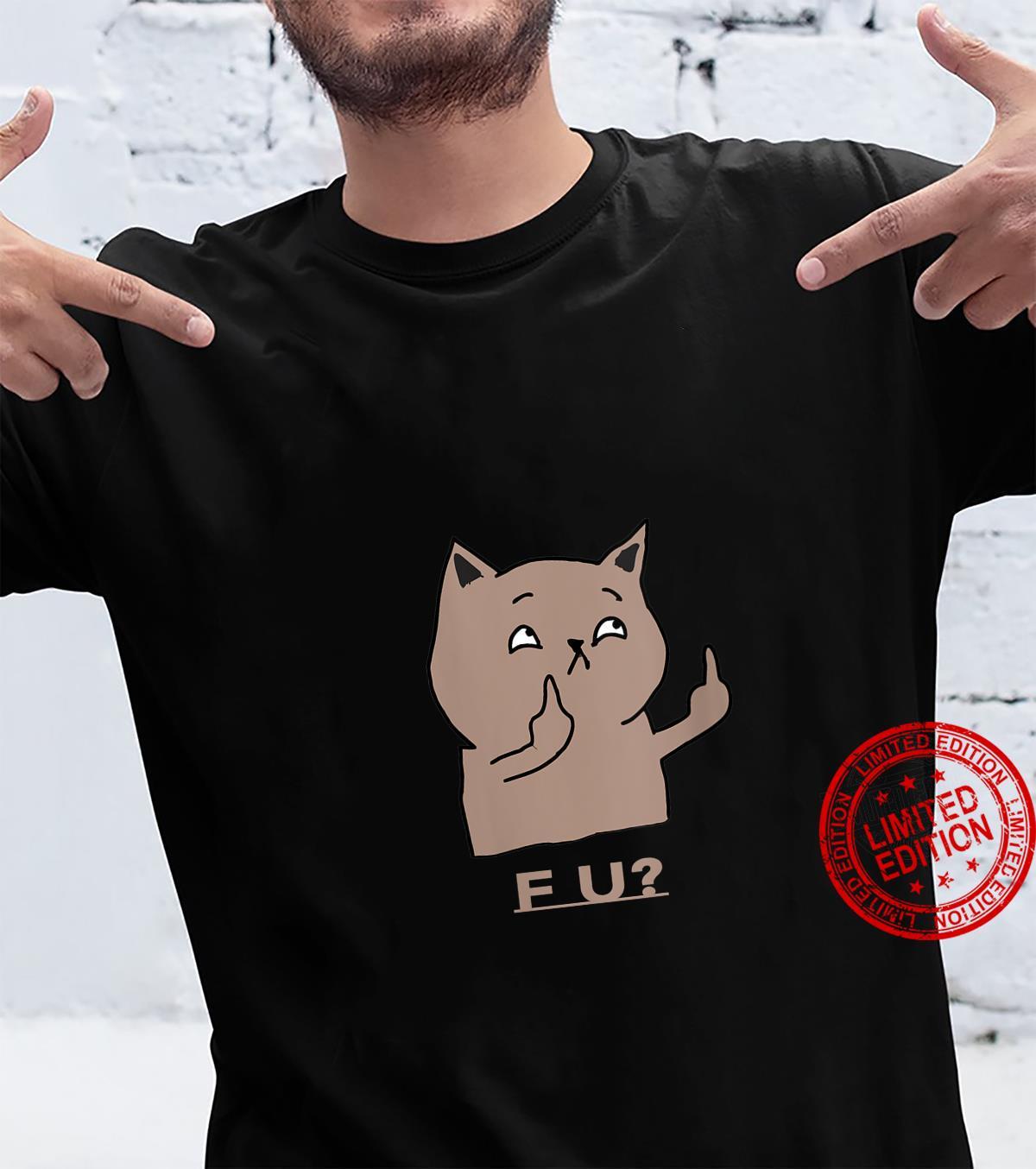 Womens Sad Rebel Cat Shirt