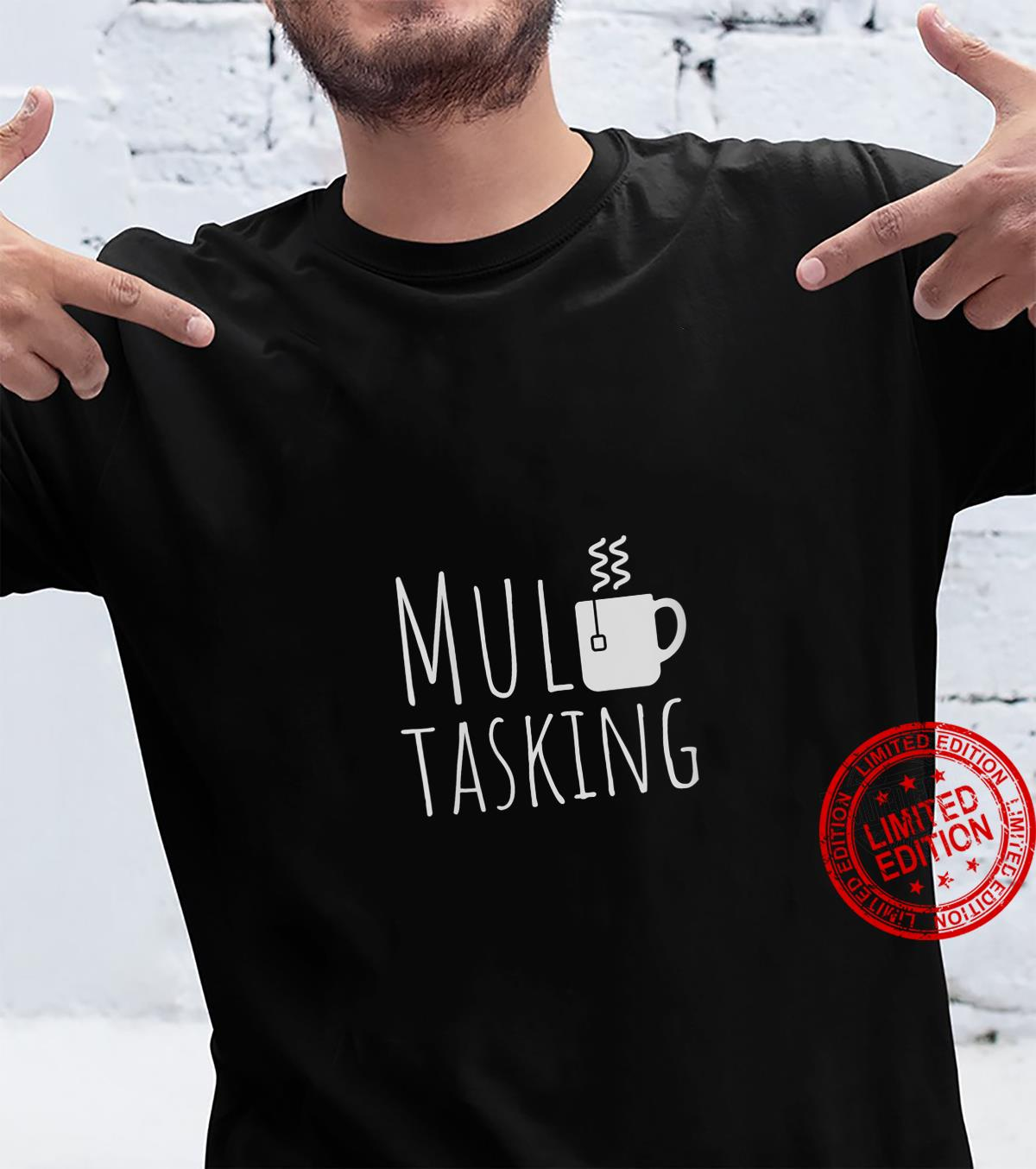 Womens Tea Pun Tea Bag Beverage Word Play Busy Drinker Shirt