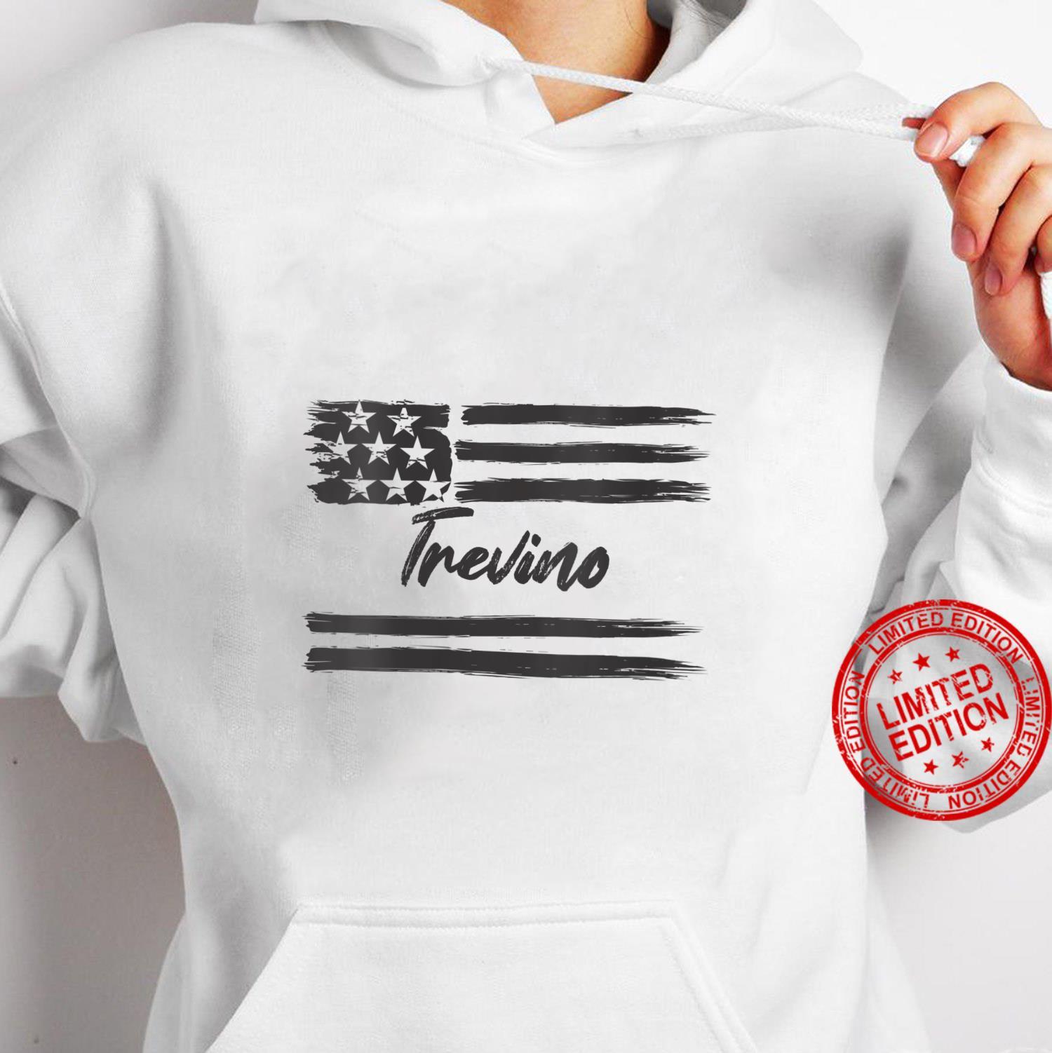 Womens Trevino Personalized Name, Stars and Stripes, USA Flag Shirt hoodie