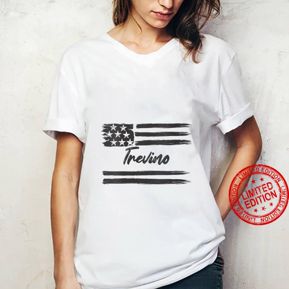Womens Trevino Personalized Name, Stars and Stripes, USA Flag Shirt ladies tee