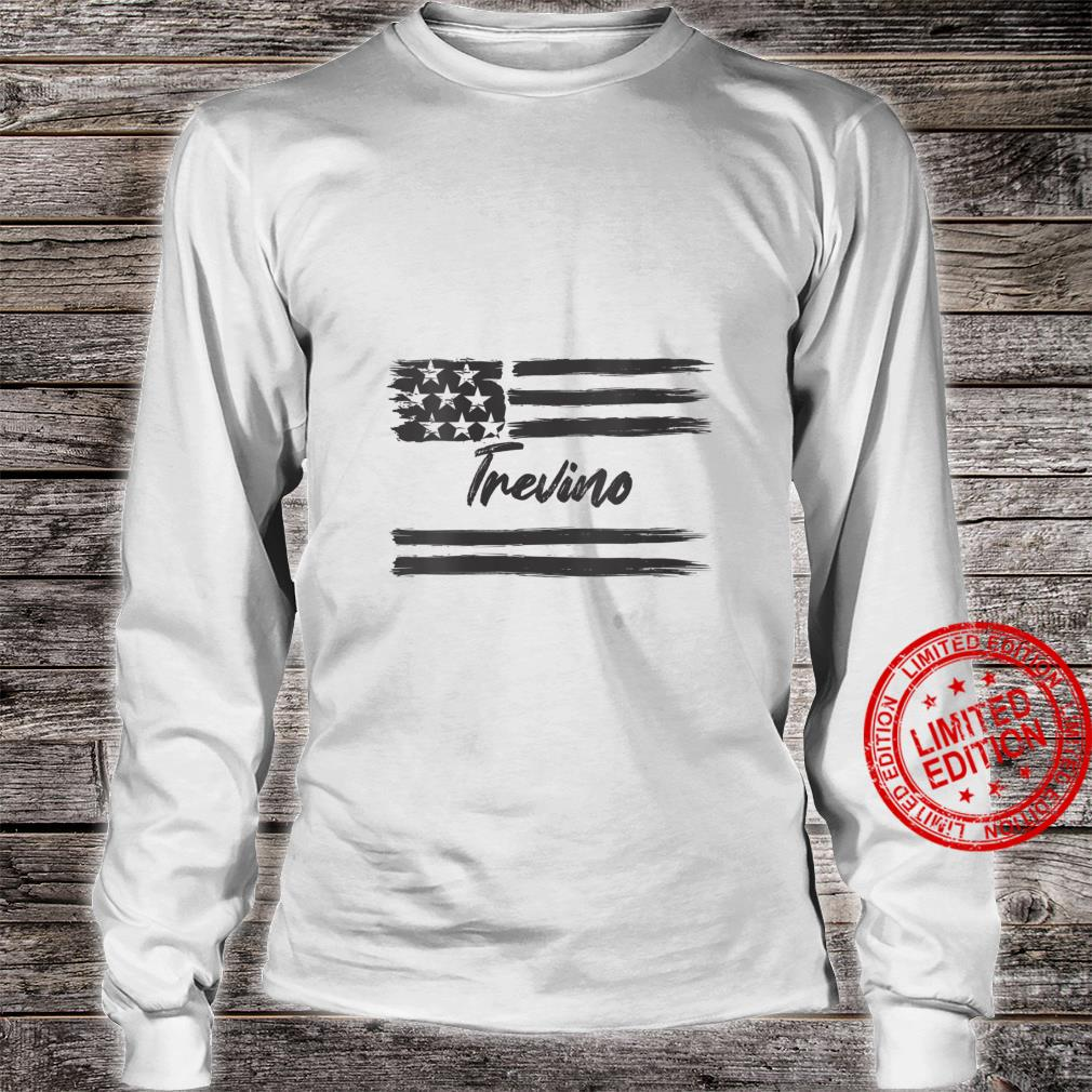 Womens Trevino Personalized Name, Stars and Stripes, USA Flag Shirt long sleeved