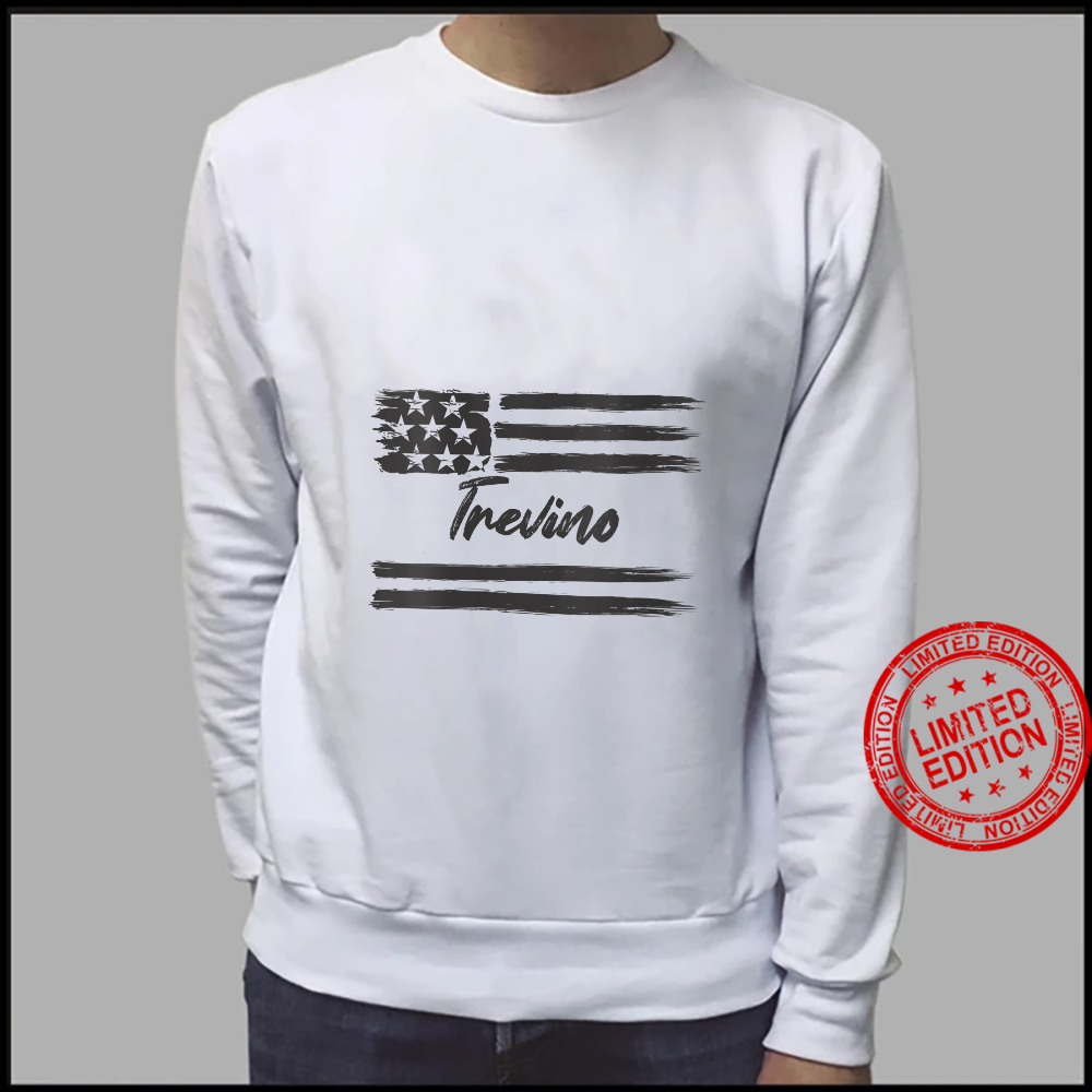 Womens Trevino Personalized Name, Stars and Stripes, USA Flag Shirt sweater