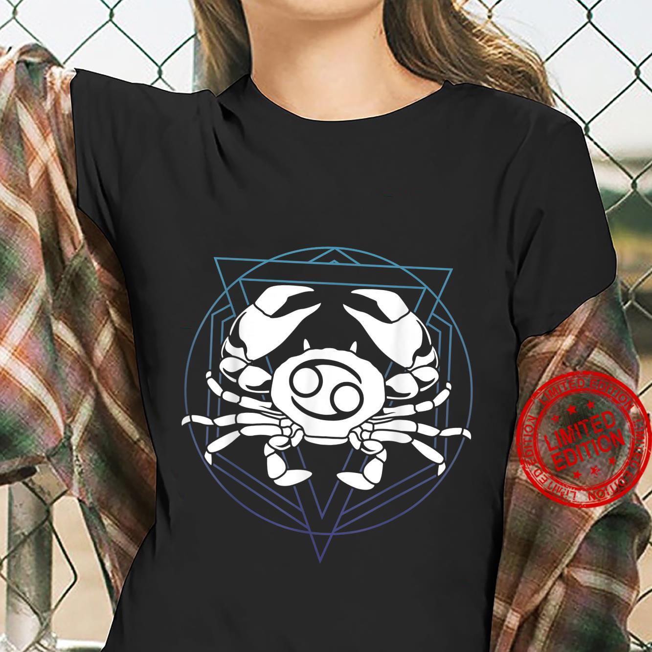 Zodiac Sign Horoscope Cancer Symbol Shirt ladies tee