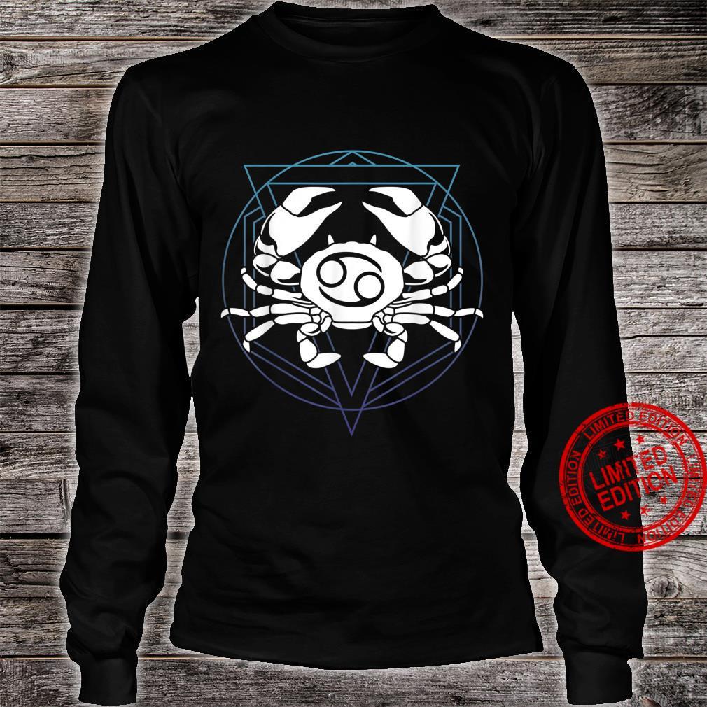 Zodiac Sign Horoscope Cancer Symbol Shirt long sleeved