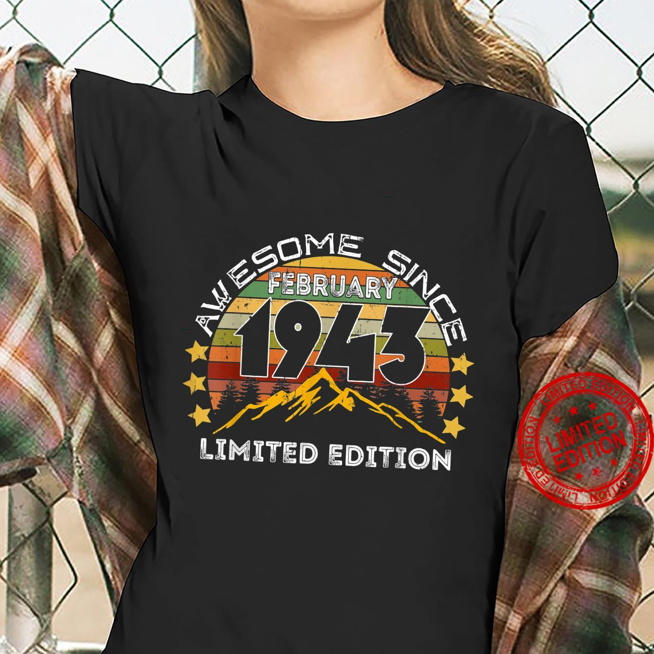Awesome Since February 1943 78th Birthday 78 Years Shirt ladies tee