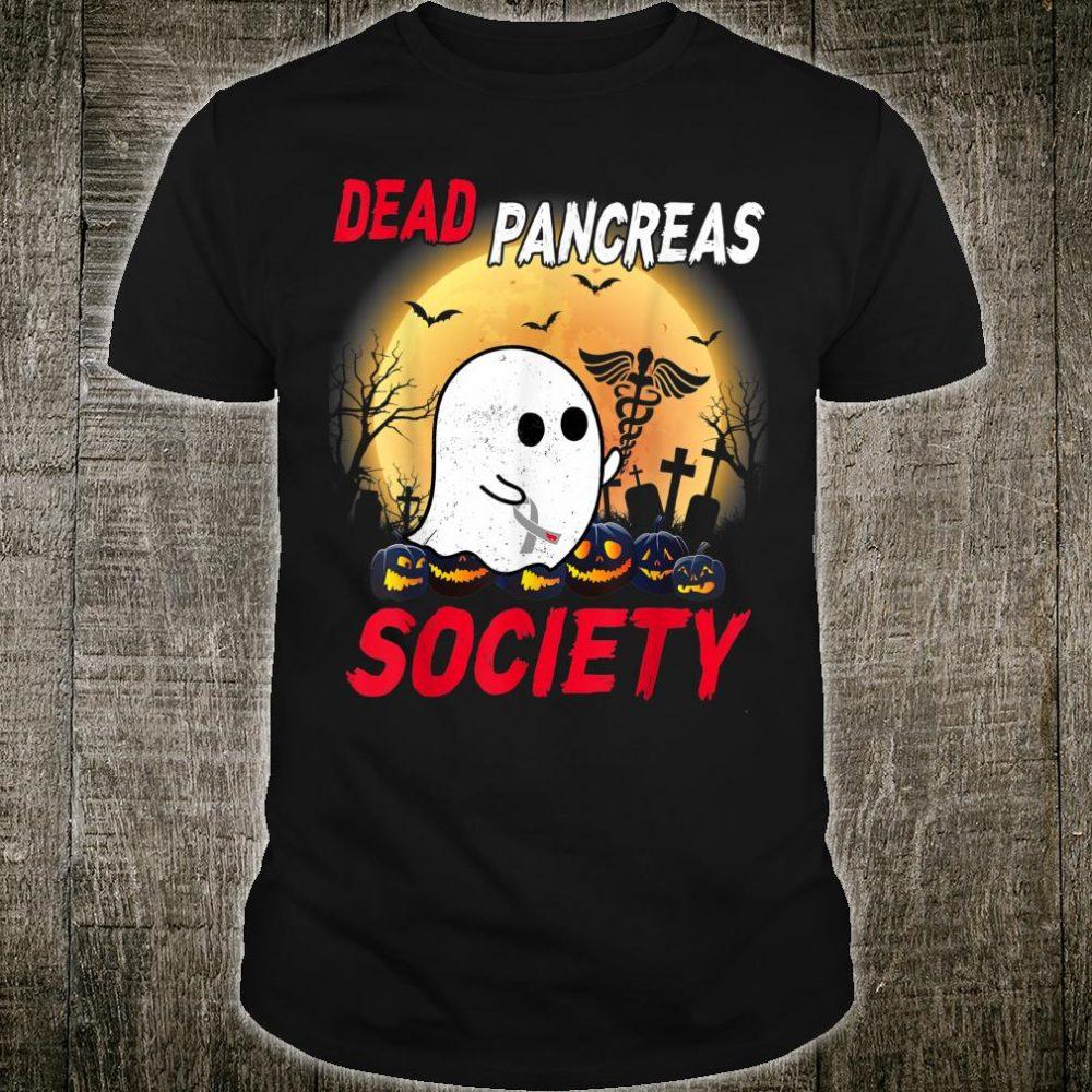 Dead Pancreas Society Ghost Halloween Shirt