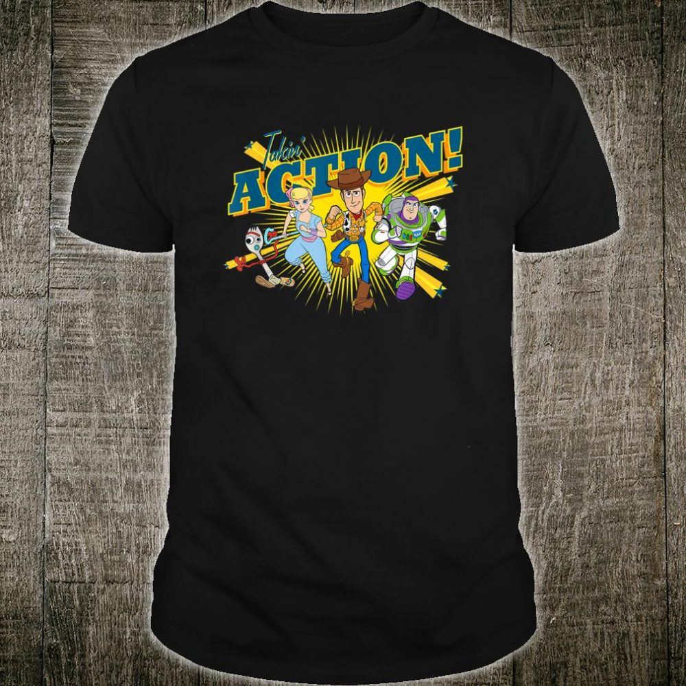 Disney Pixar Toy Story 4 Characters Takin' Action Shirt
