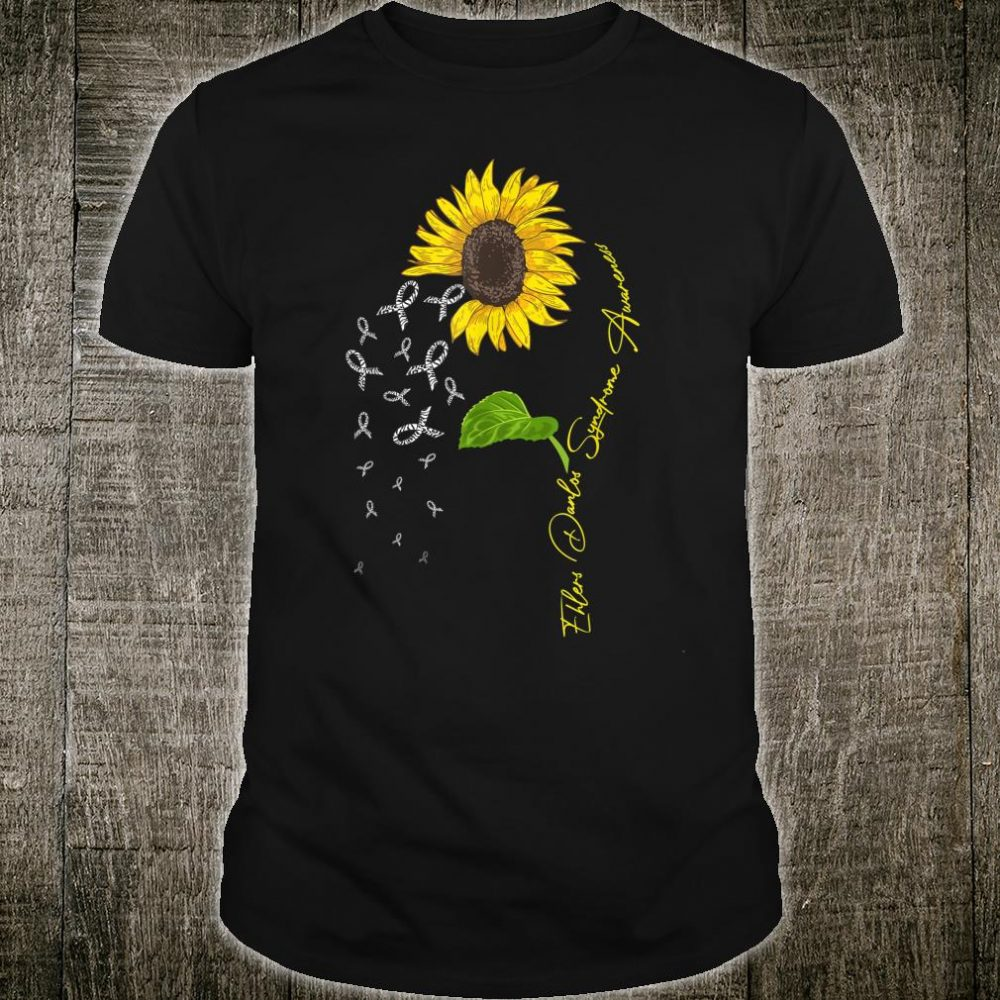Ehlers Danlos Syndrome Awareness Ribbon Sunflower Shirt