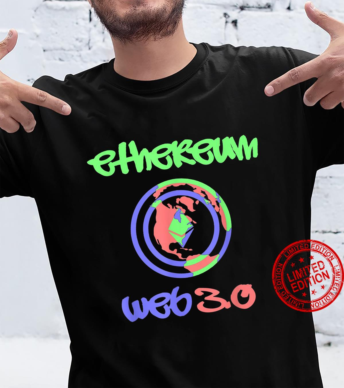 Ethereum Web 3.0 Cool GraffitiStyle Cryptocurrency Shirt
