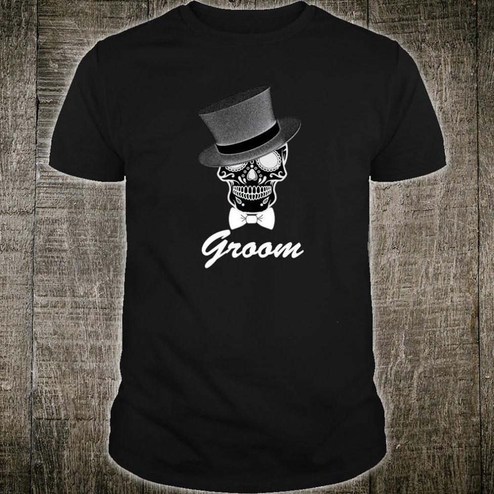 Groom Halloween Wedding Day of Dead Shirt