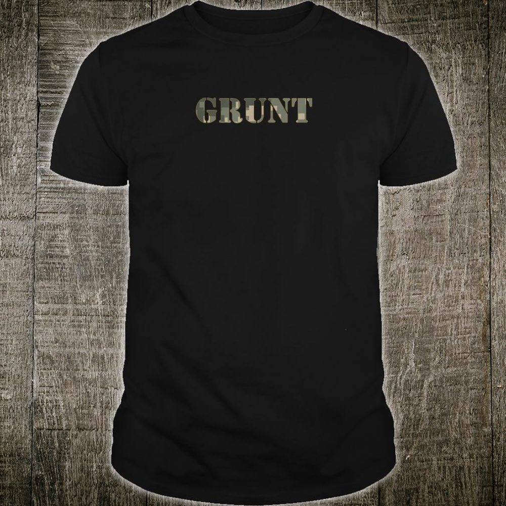 Grunt Army Active Duty Soldier Four Generations Shirt