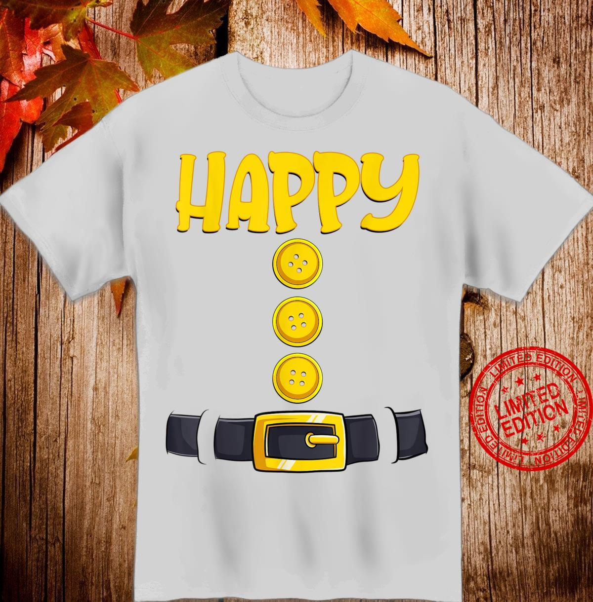 Happy Halloween Dwarf Costume Color Matching Shirt