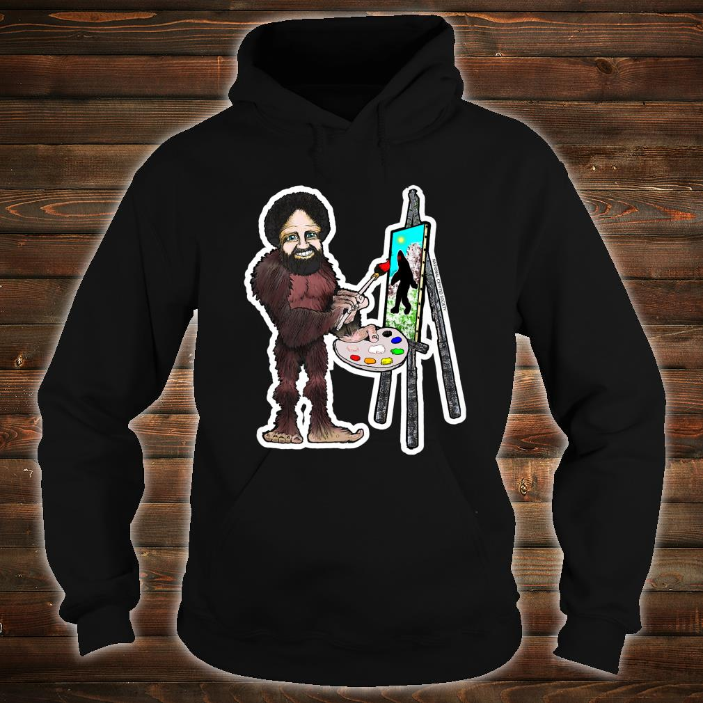 Happy Little Bigfoot; Painting Joy of Sasquatch Artist Paint Shirt hoodie