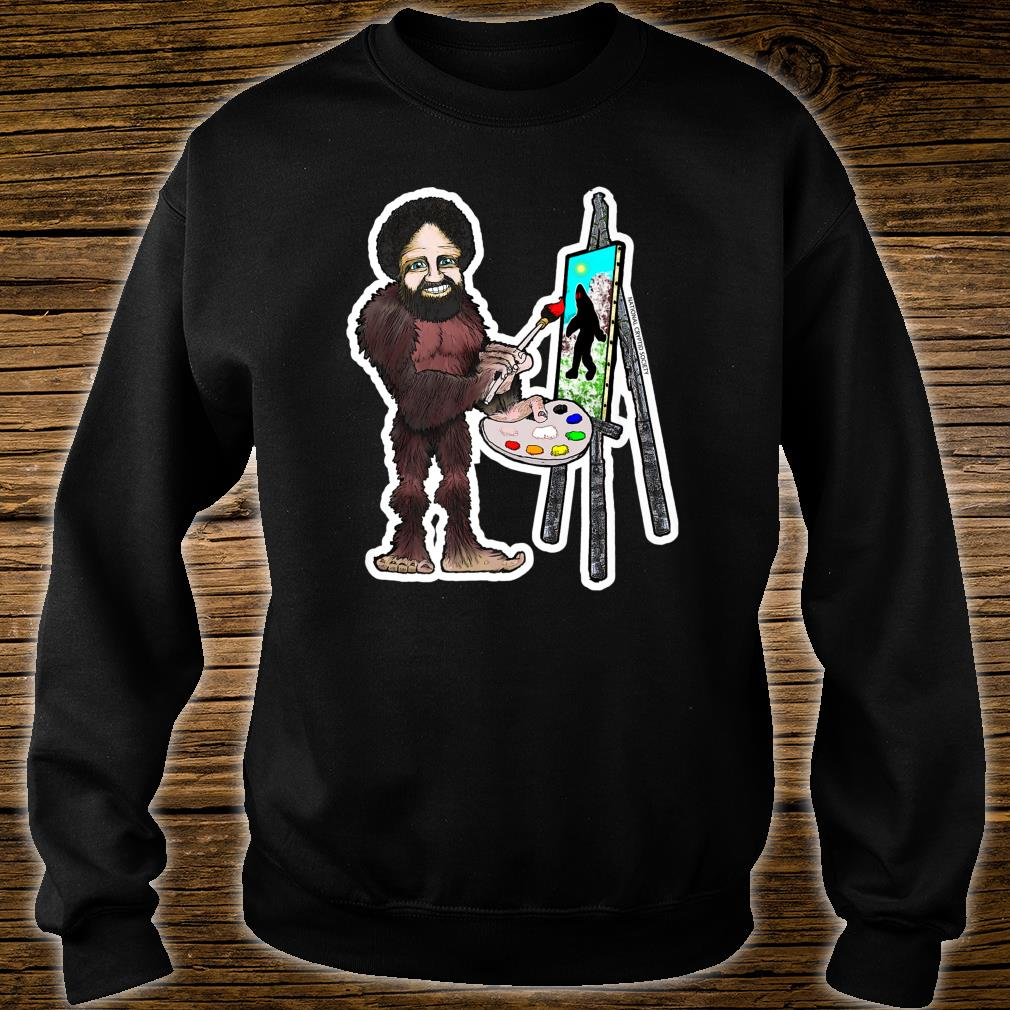 Happy Little Bigfoot; Painting Joy of Sasquatch Artist Paint Shirt sweater