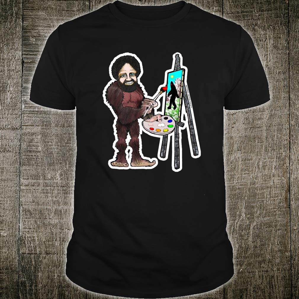 Happy Little Bigfoot; Painting Joy of Sasquatch Artist Paint Shirt