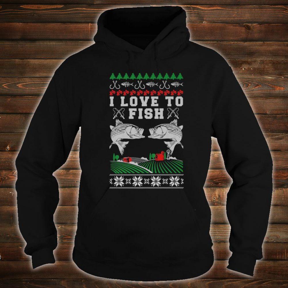 I Love to Fish Fishing Ugly Christmas Shirt hoodie