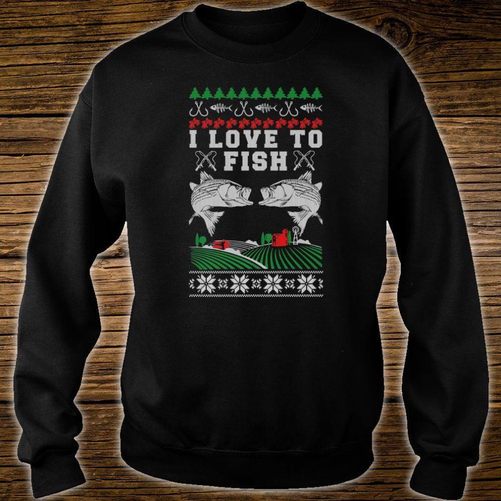 I Love to Fish Fishing Ugly Christmas Shirt sweater