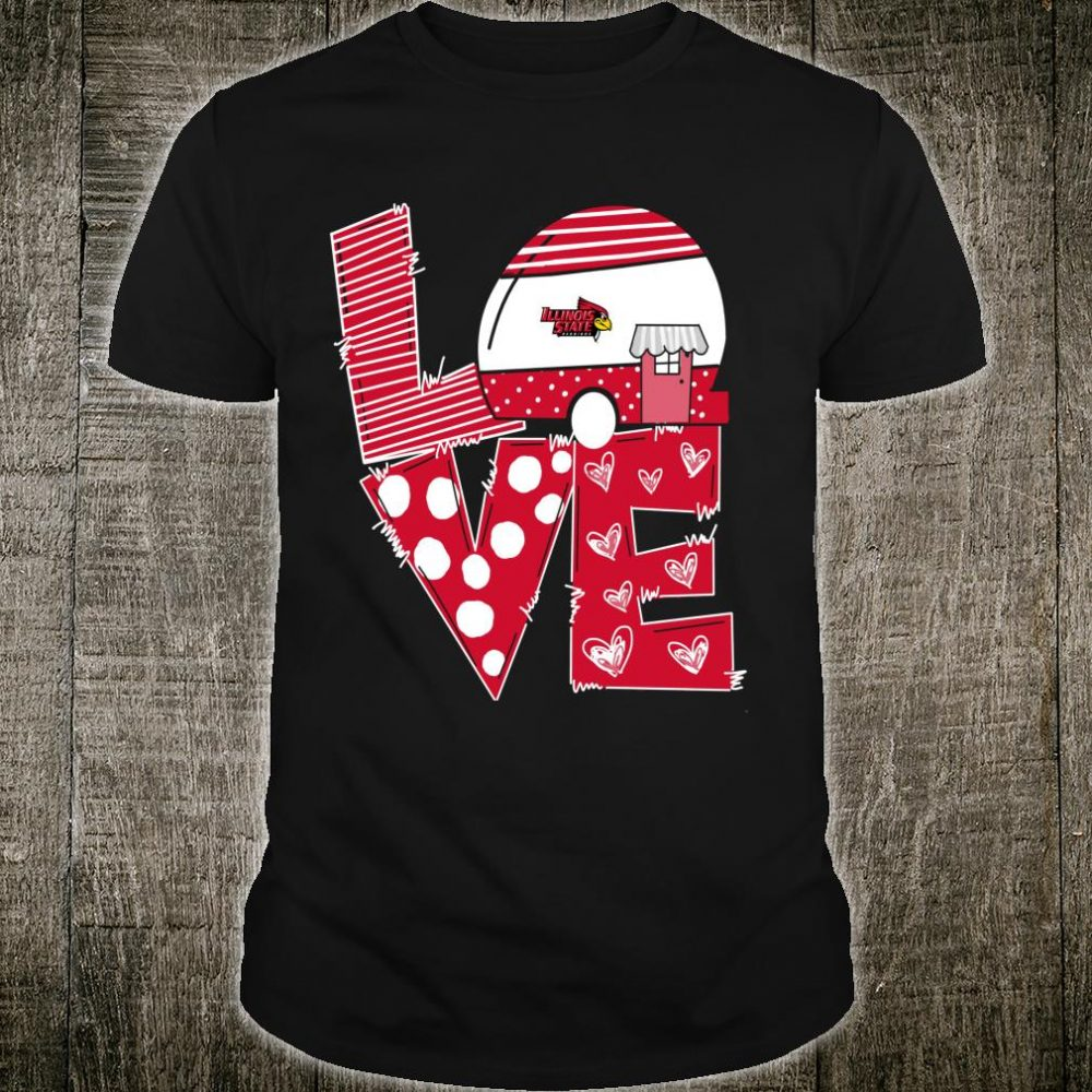 Illinois State Redbirds Stacked Love Officially Licensed Shirt