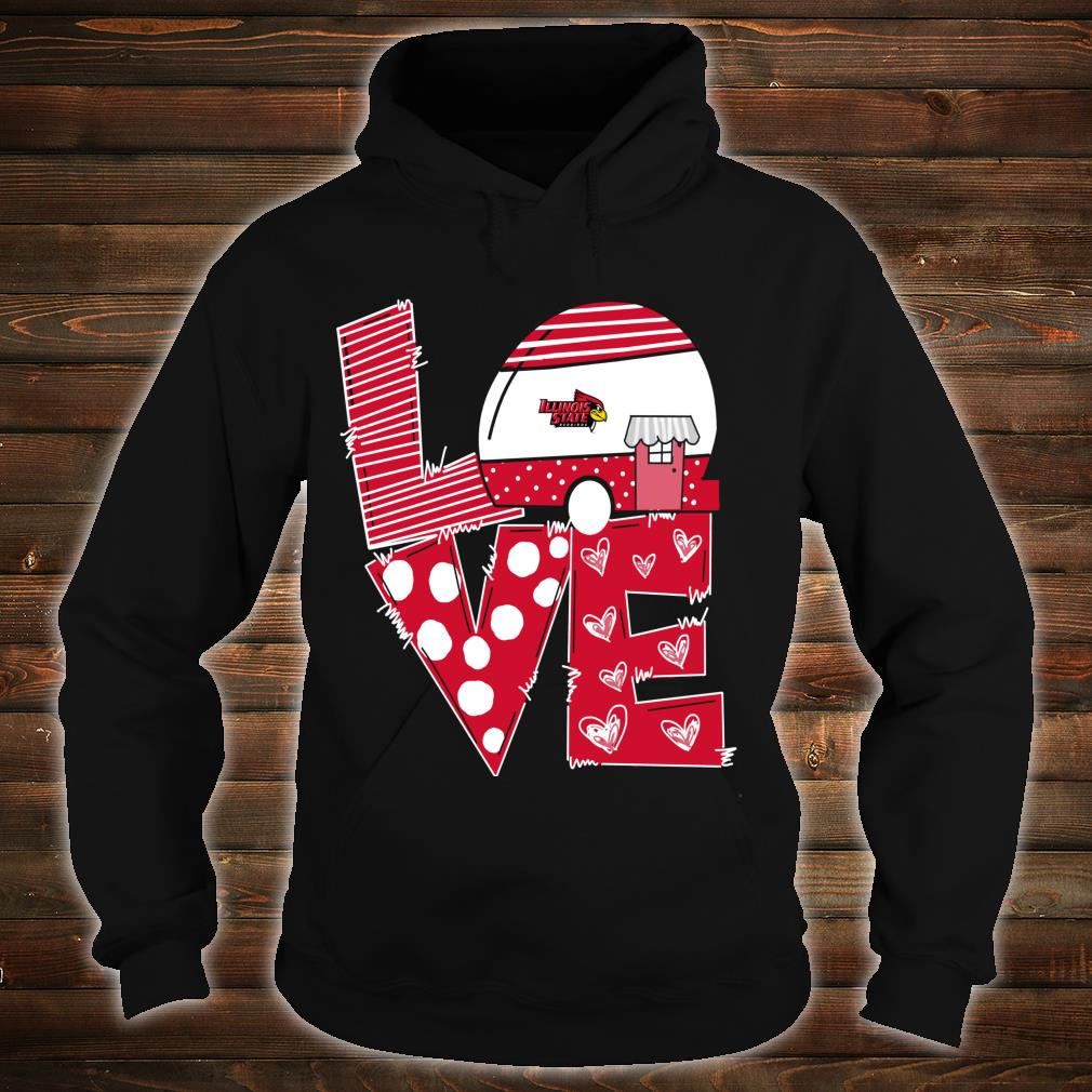 Illinois State Redbirds Stacked Love Officially Licensed Shirt hoodie