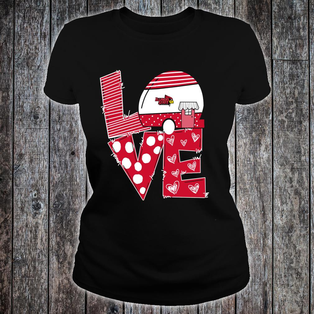Illinois State Redbirds Stacked Love Officially Licensed Shirt ladies tee