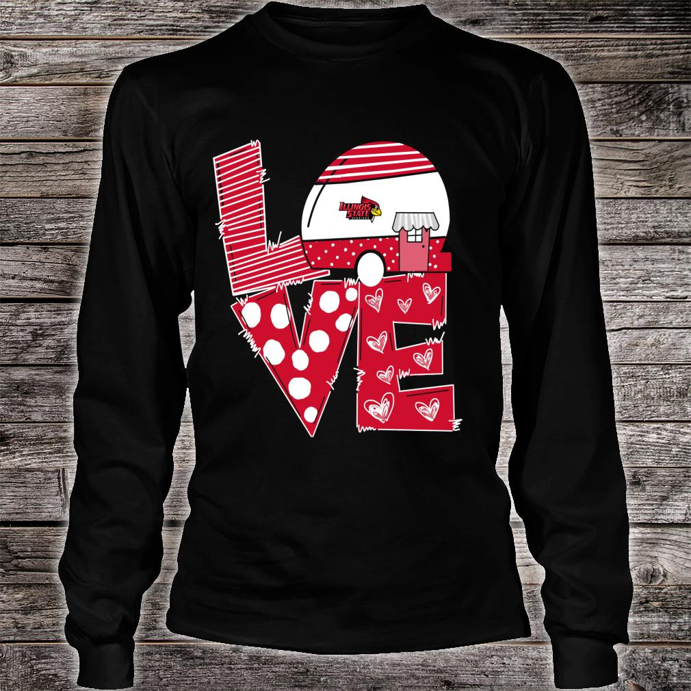 Illinois State Redbirds Stacked Love Officially Licensed Shirt long sleeved