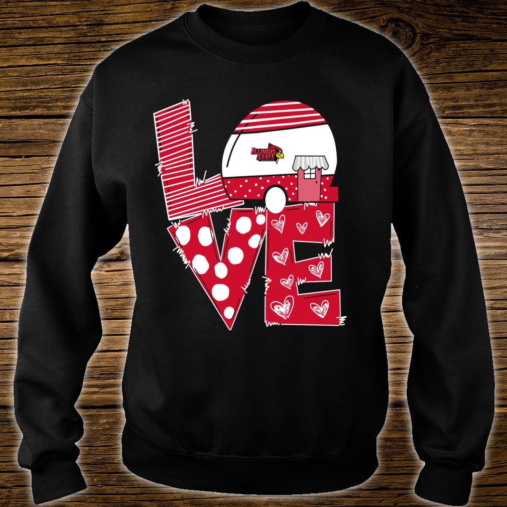 Illinois State Redbirds Stacked Love Officially Licensed Shirt sweater