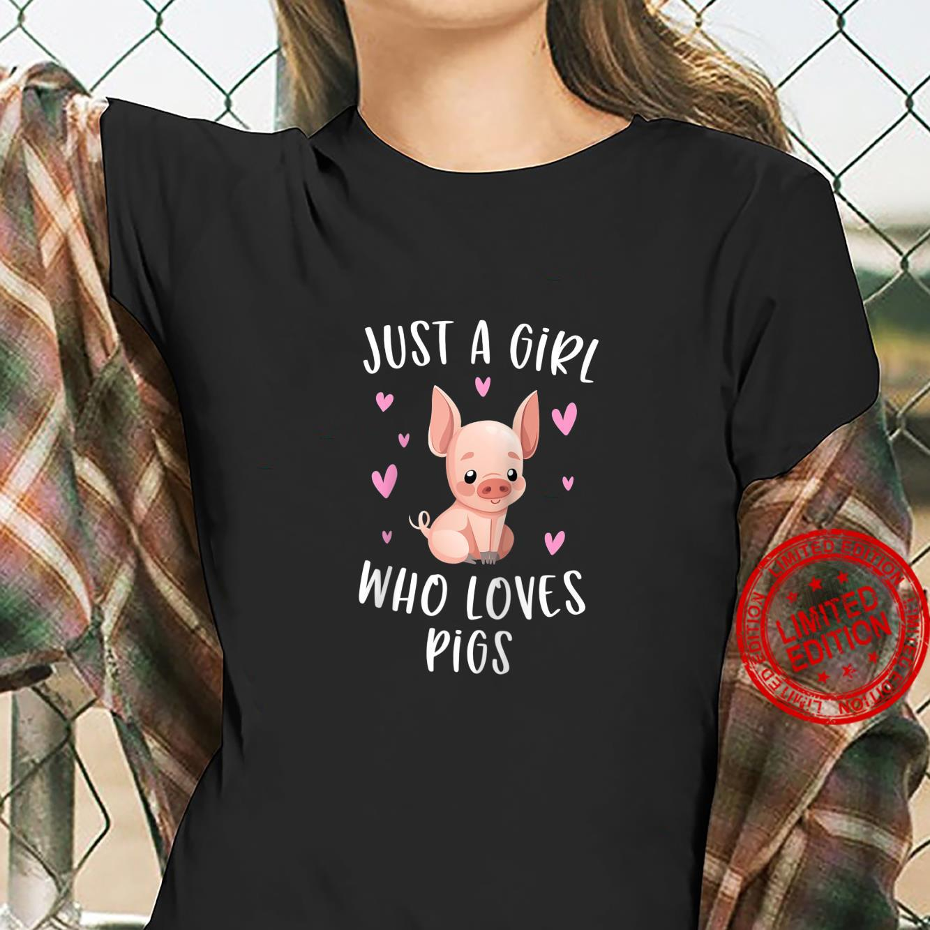Just A Girl Who Loves Pigs Piggys For Girls Shirt ladies tee