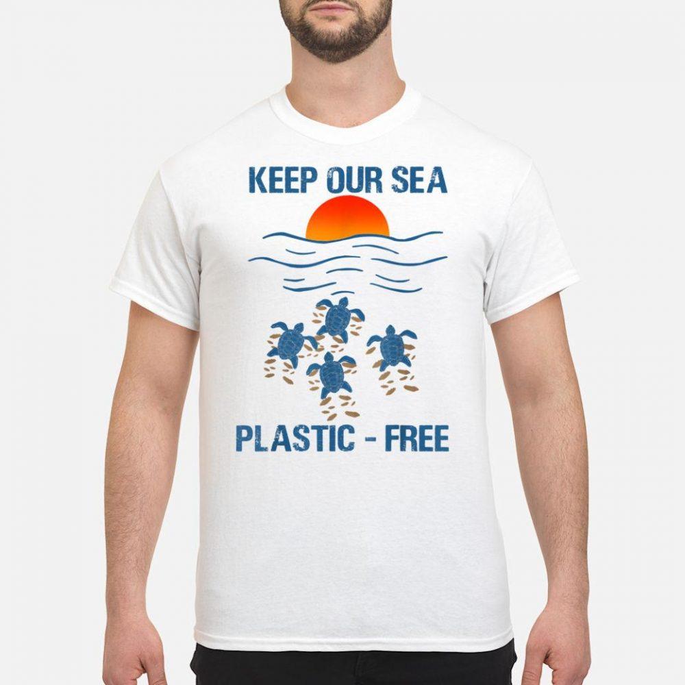 Keep Our Sea PlasticFree Turtle Shirt