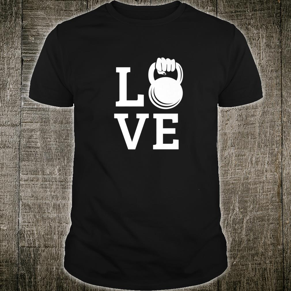 Kettlebell Love Gym Workout Exercise Top Shirt