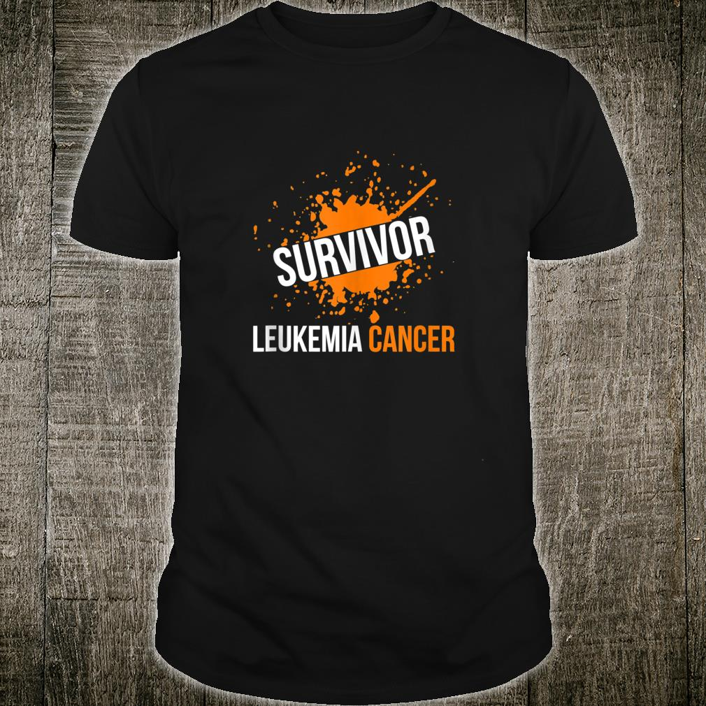 Leukemia Cancer Awareness Survivor Orange Ribbon Shirt