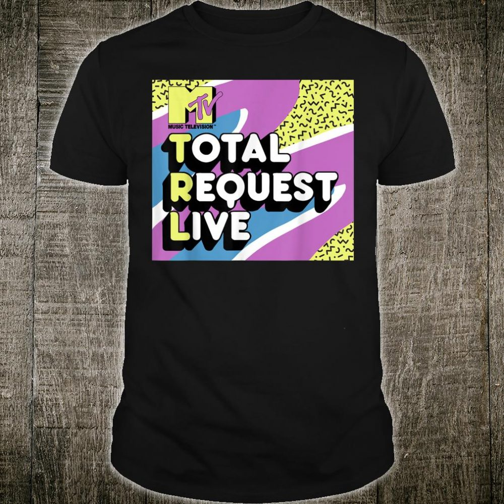 MTV Total Request Live 90's Colorful Pattern Shirt