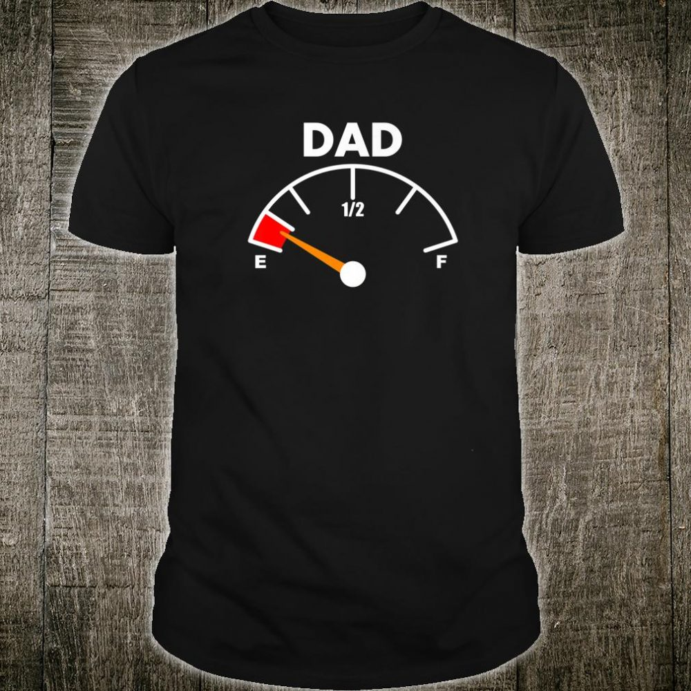 Mens For Dad New Father Pregnancy Running On Empty Shirt