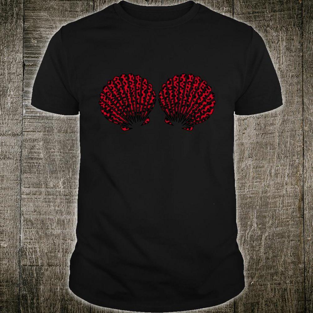 Mermaid Bra Shells With Cute Animal Print Safari Pattern Shirt