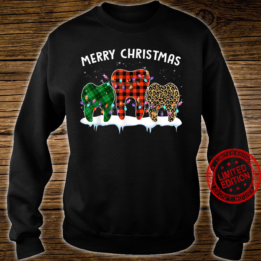 Merry Christmas Dental Assistant Tooth Leopard Xmas Shirt sweater
