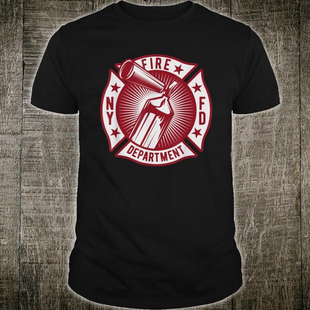 NY Fire Department Firefighters Fireman Shirt