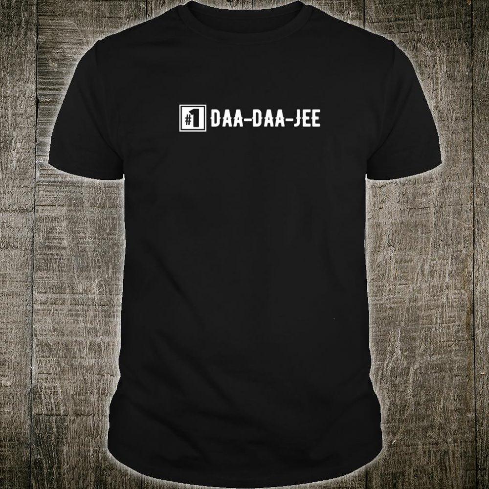 Number 1 DaaDaaJee Grandpa Shirt