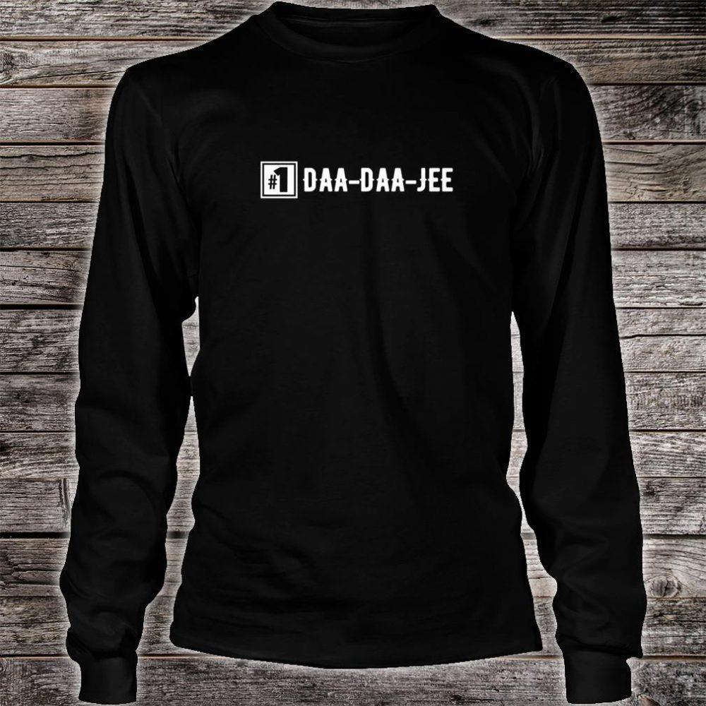 Number 1 DaaDaaJee Grandpa Shirt long sleeved