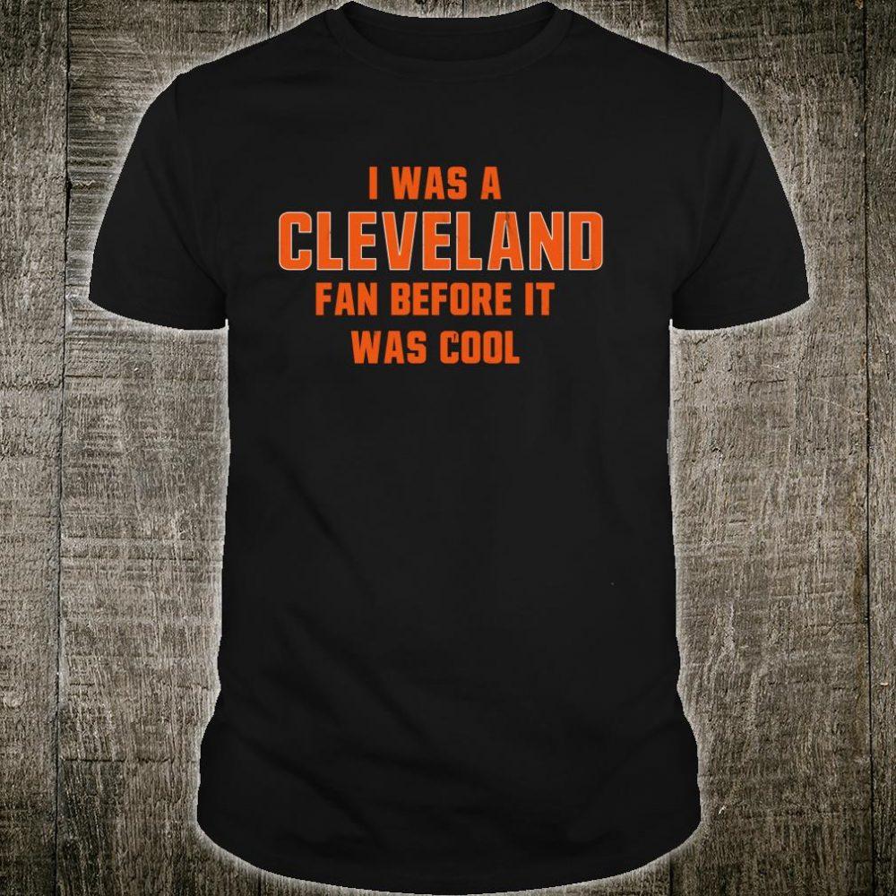 Ohio Cleveland Stripe Football Fan Before It Was Cool Shirt