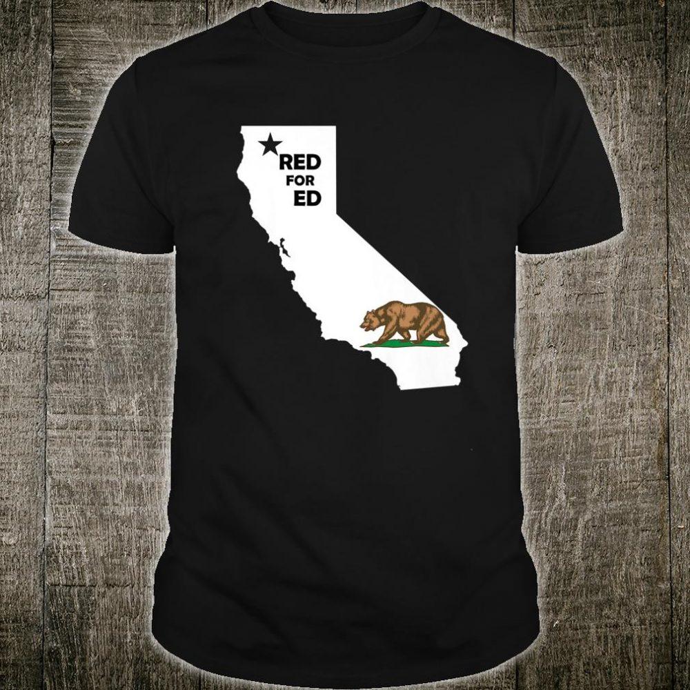 Red For Ed California LA Teacher Protest Shirt