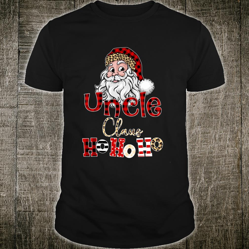 Red Plaid Uncle Claus Ho Ho Ho Matching Family Christmas Shirt