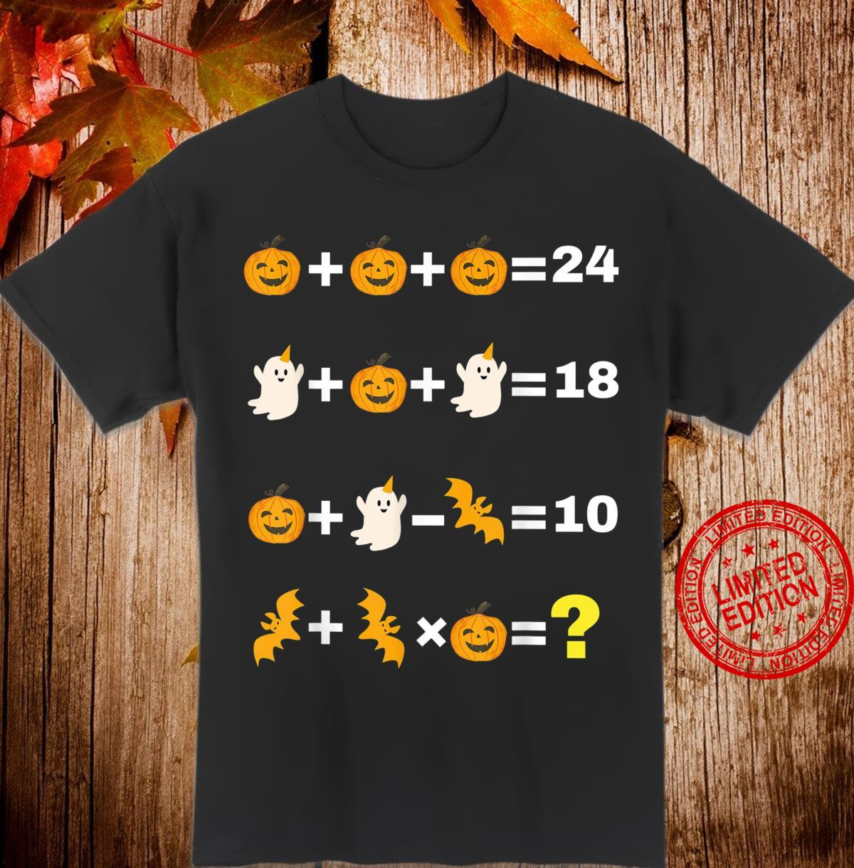 Reihenfolge der Operationen Halloween Quiz Lustiger Shirt