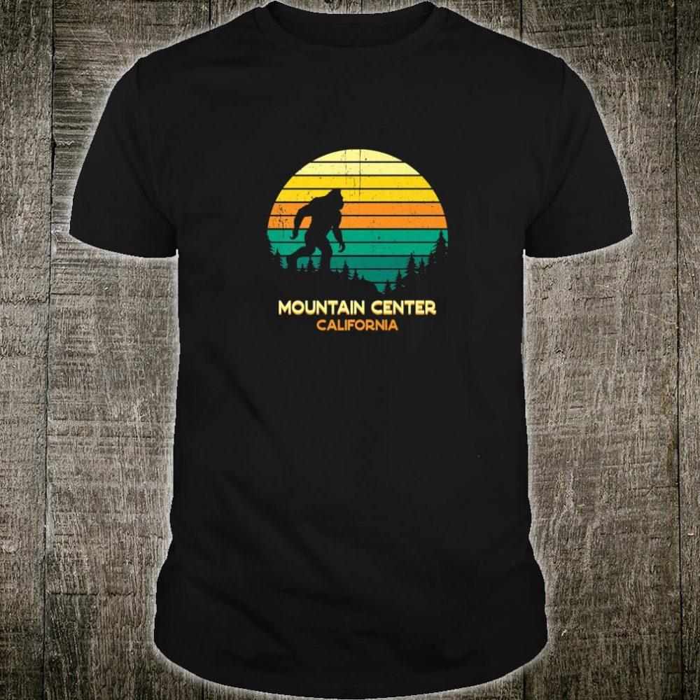 Retro Bayou Mountain Center, California Bigfoot Souvenir Shirt