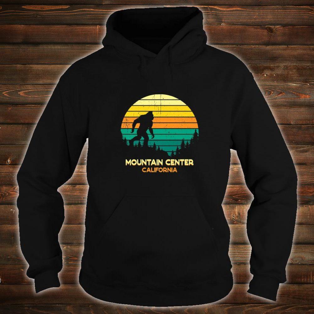 Retro Bayou Mountain Center, California Bigfoot Souvenir Shirt hoodie