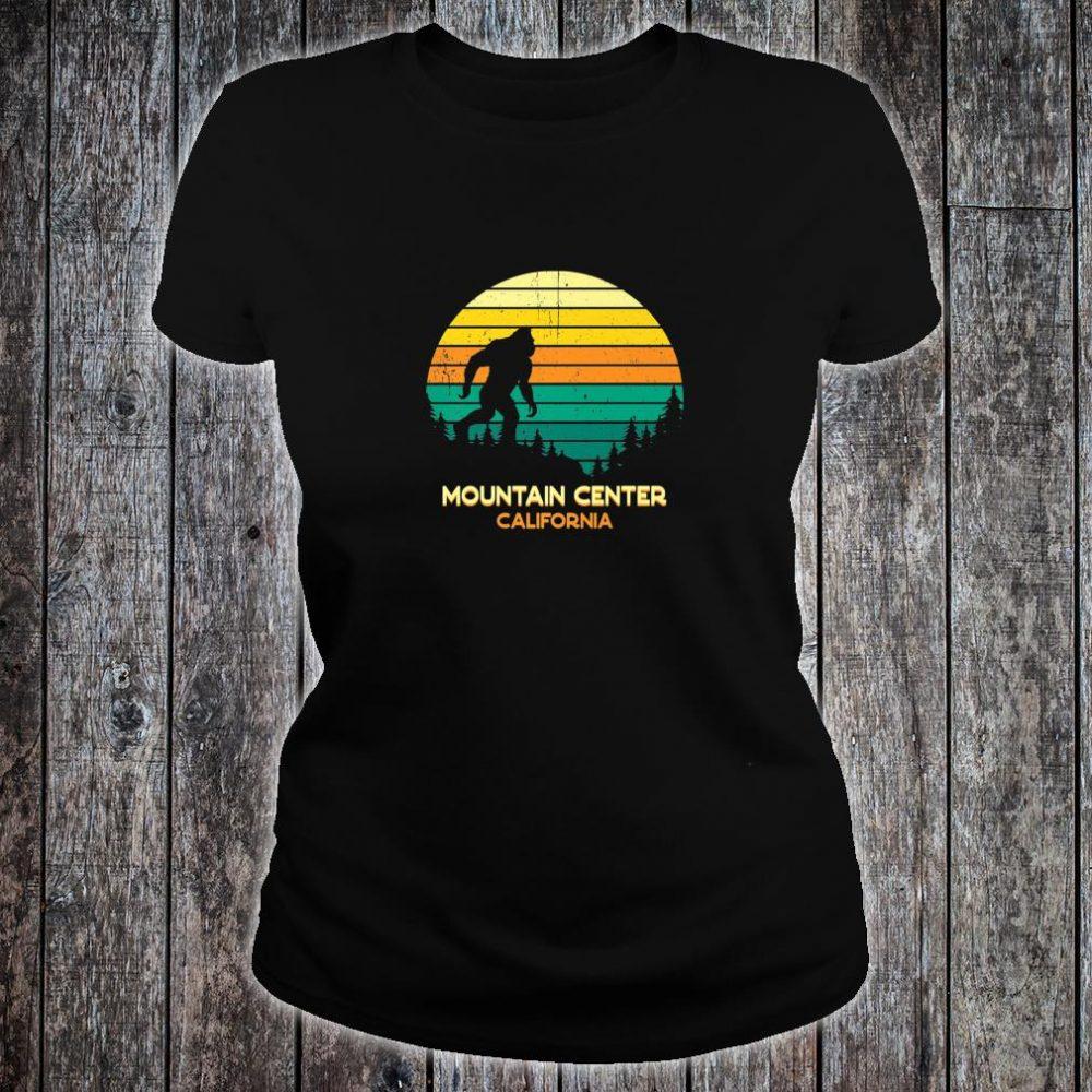 Retro Bayou Mountain Center, California Bigfoot Souvenir Shirt ladies tee