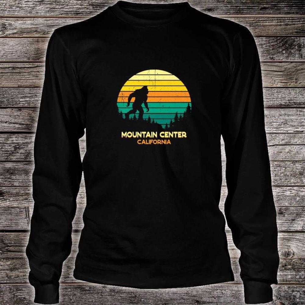 Retro Bayou Mountain Center, California Bigfoot Souvenir Shirt long sleeved