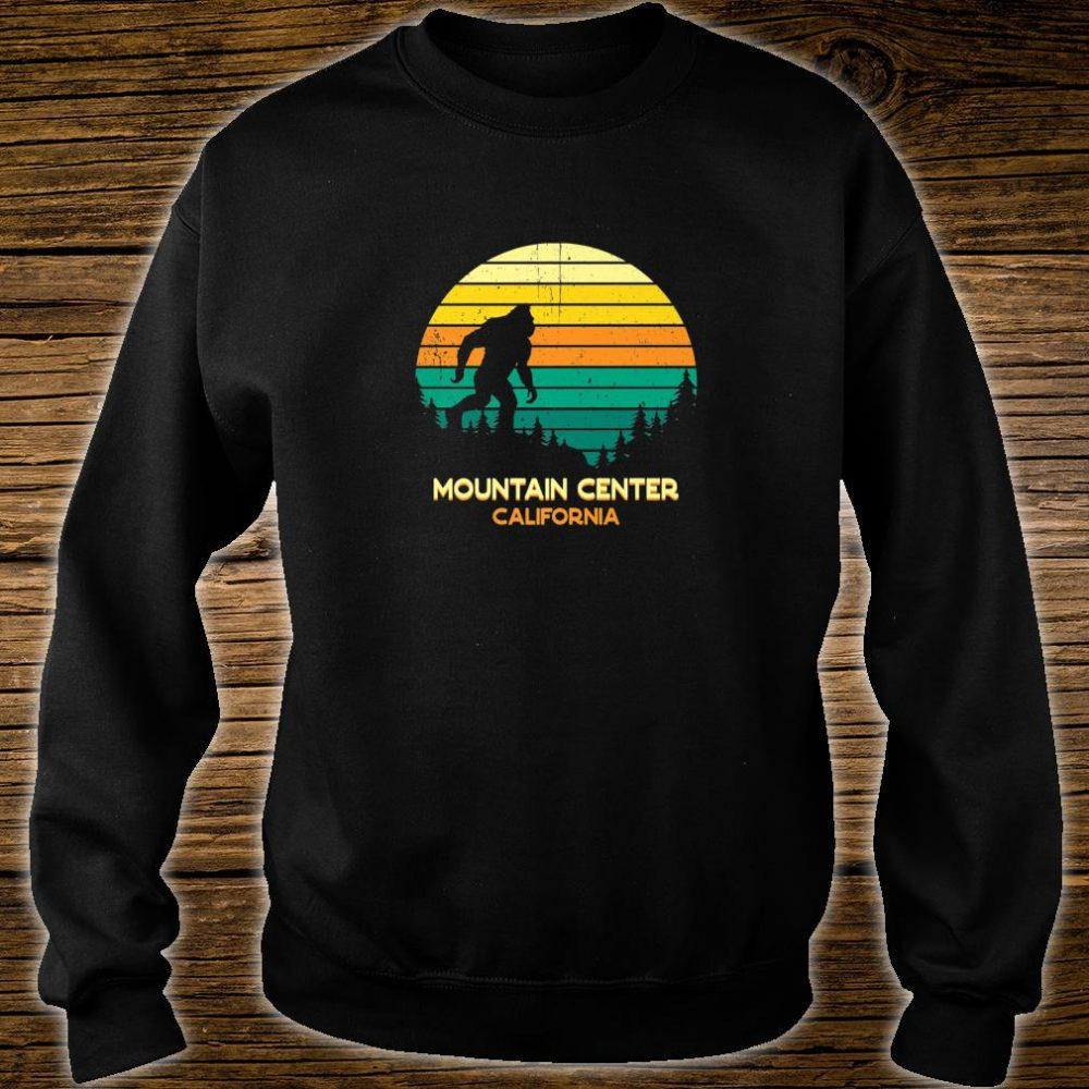 Retro Bayou Mountain Center, California Bigfoot Souvenir Shirt sweater