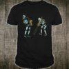 Roboter-Band Posaune und Saxophonisten mit Instrumenten Shirt